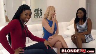 Aaliyah Love Having Hot Interracial girl-on-girl lovemaking With Mya Mays & Yara Skye