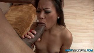 Asian facialized by big black cock